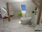 Bájecný Obraz Inspirace z Koupelny V Podkroví