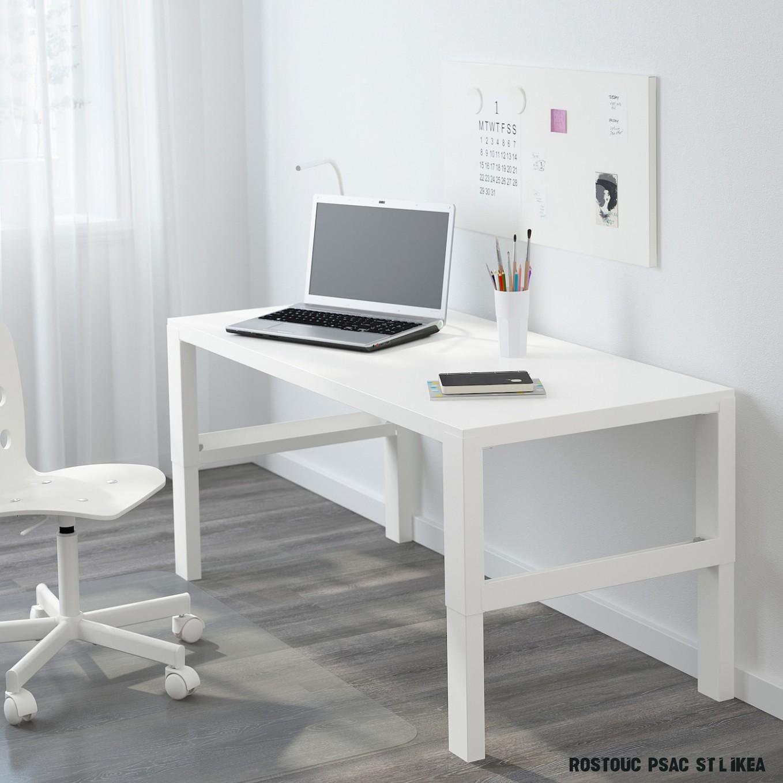 PÅHL Psací stůl - bílá 7x7 cm
