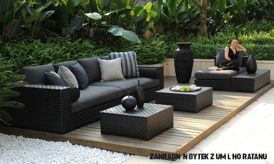 Zahradní nábytek umělý ratan Tres Deep - zahradní sestava - doprava ZDARMA