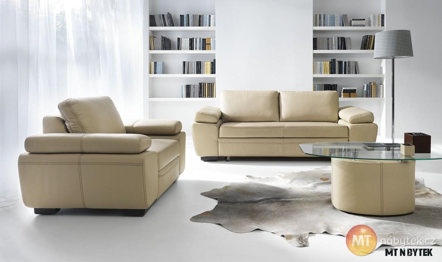 Kožená sedací souprava Medarda 7+7  MT-nábytek #sofa #divan