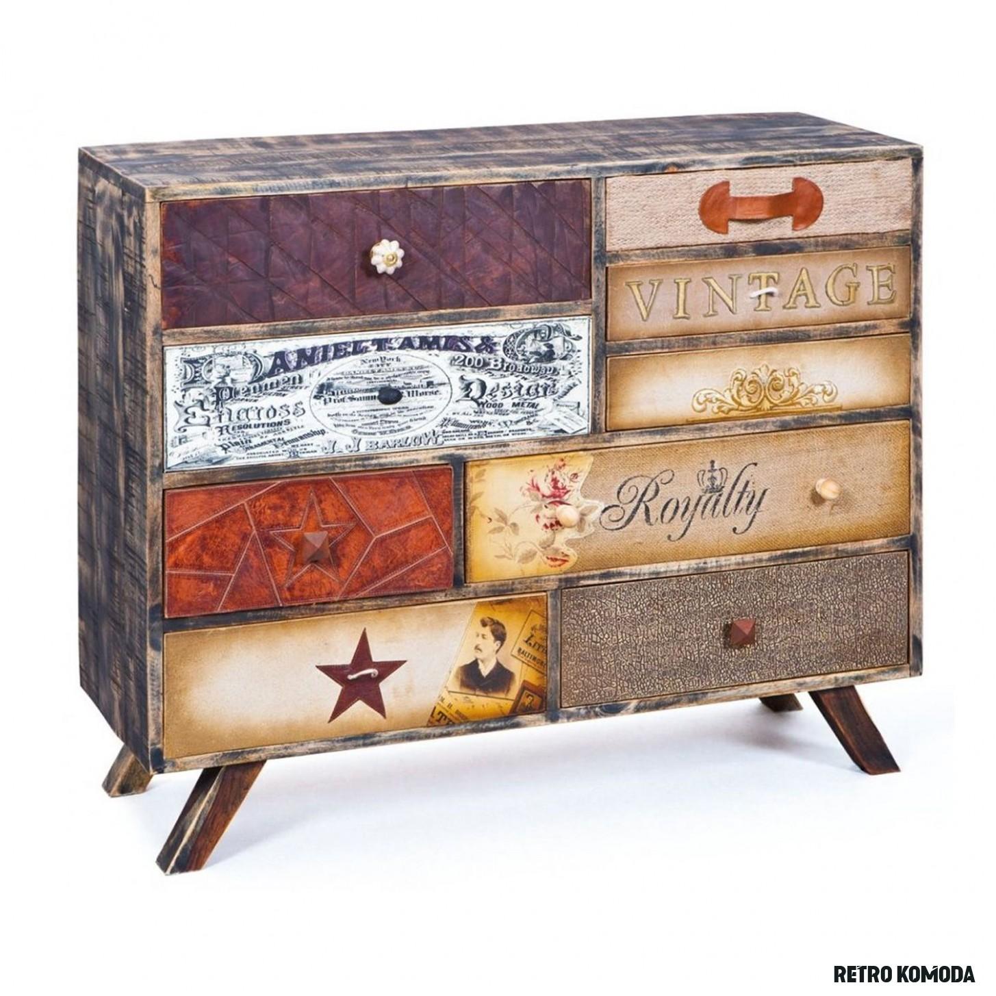 Komoda SAN ANTONIO retro - Komody - IDEA nábytek  Wooden boxes