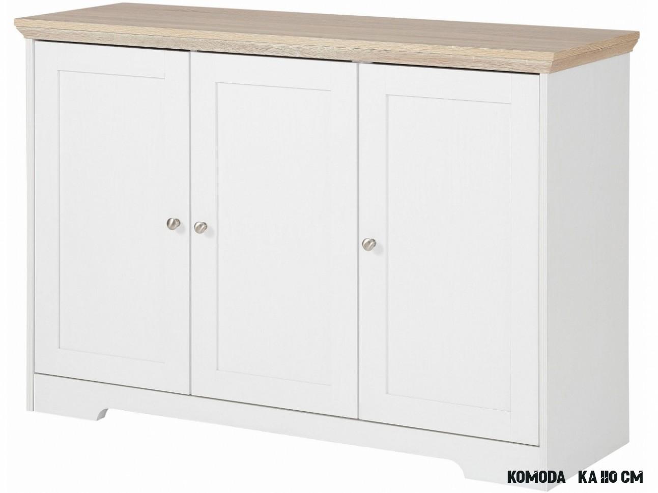 Komoda Nana, 13 cm, bílá  Nábytek DIREKT  Designový nábytek