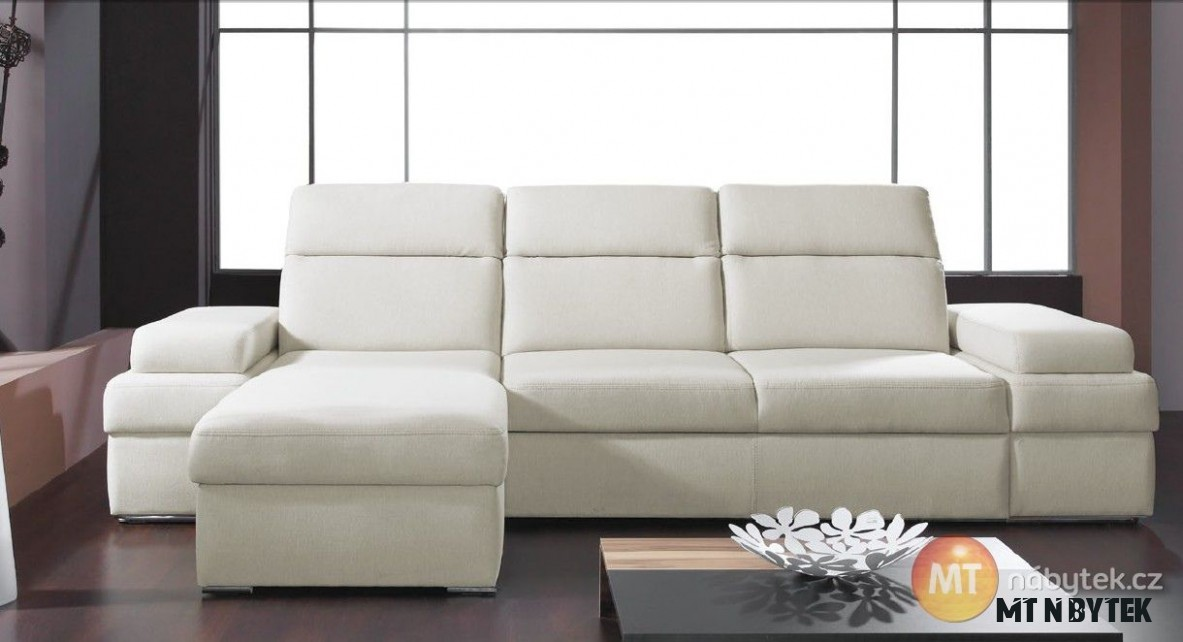 Rohová rozkládací sedací souprava Bono 7  MT-nábytek #sofa #divan