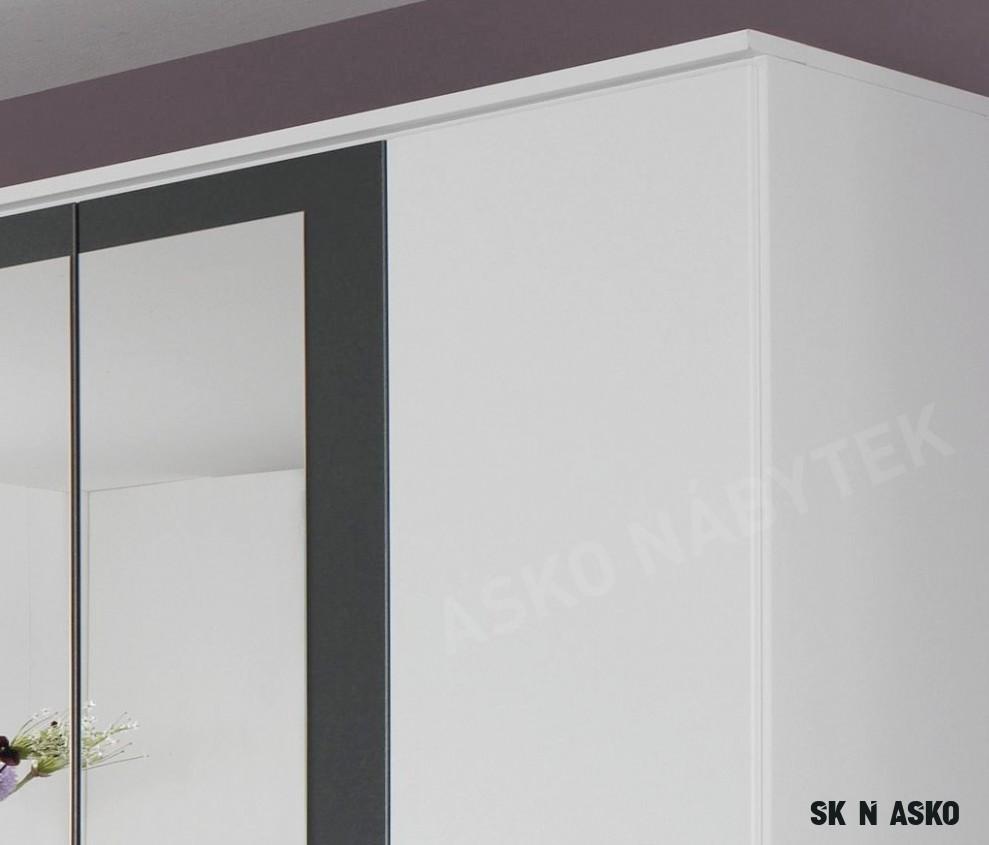 Šatní skříň Burano, 18 cm, bílá/šedá