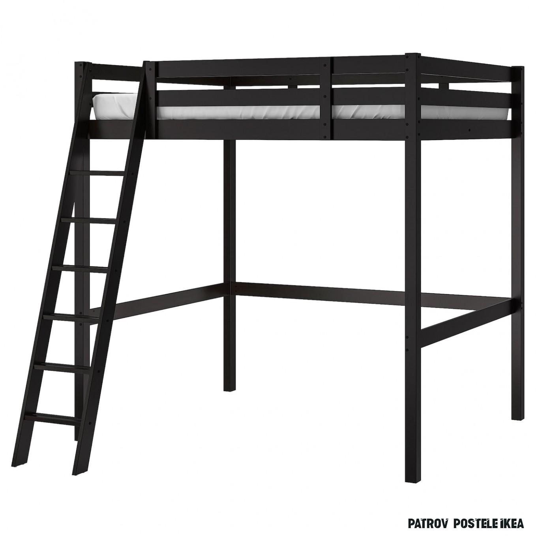 STORÅ Rám vysoké postele - černá 14x14 cm