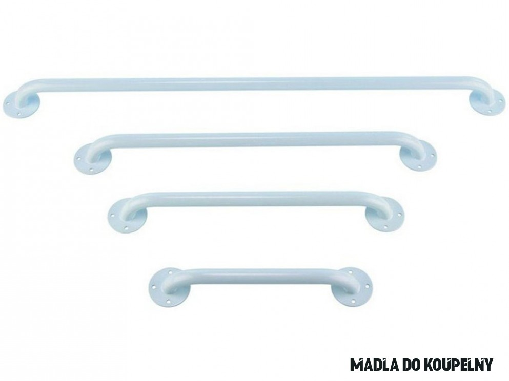 Madlo kovové záchytné, bílé, různé délky