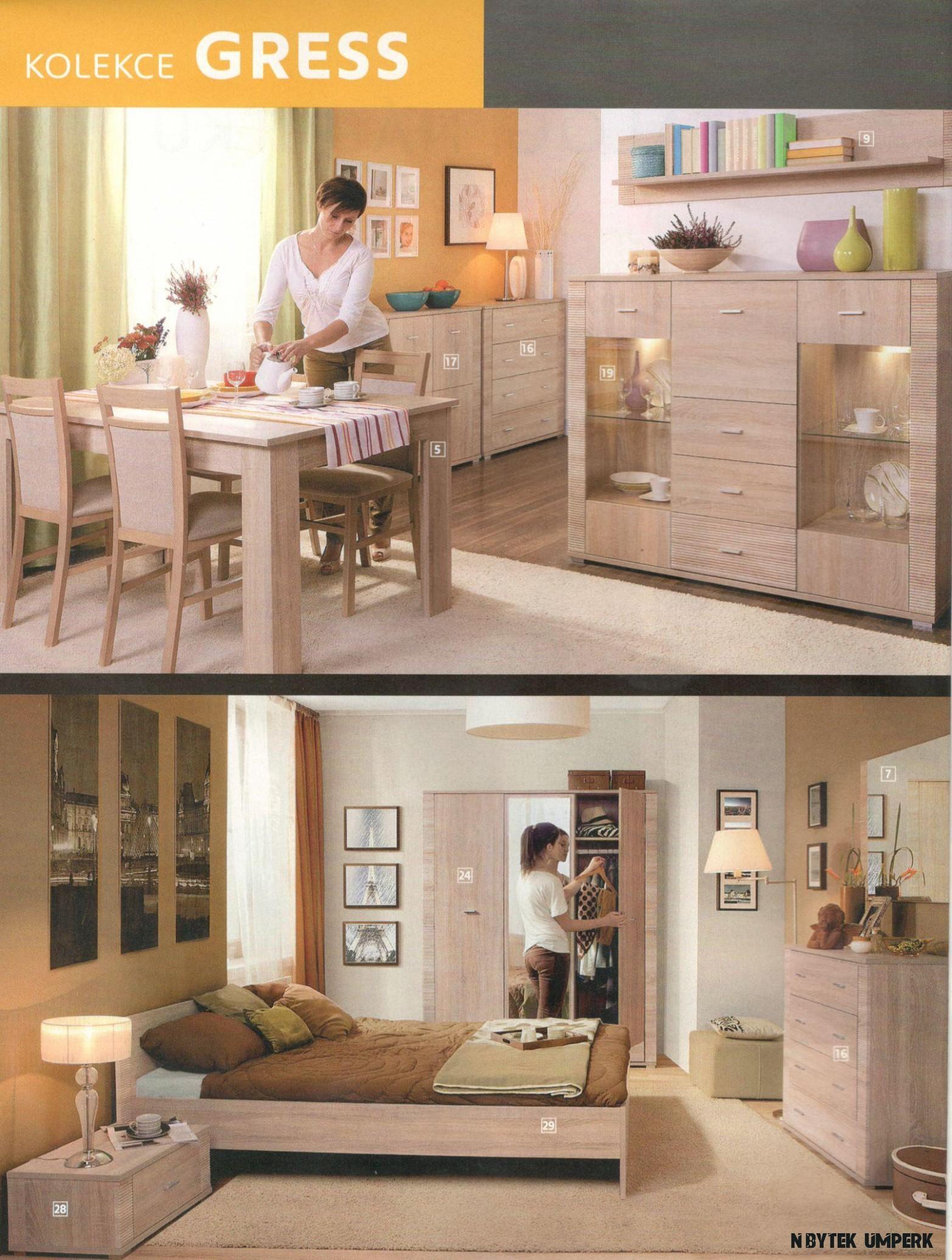 Modulové Sestavy  GRESS  Paulline - sedací soupravy, kuchyně a