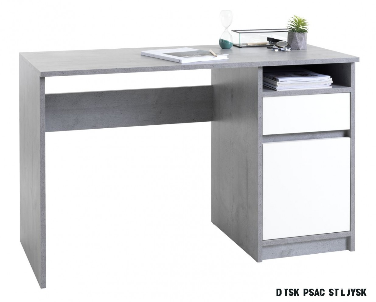 Psací stůl BILLUND 17x17 beton/bílá