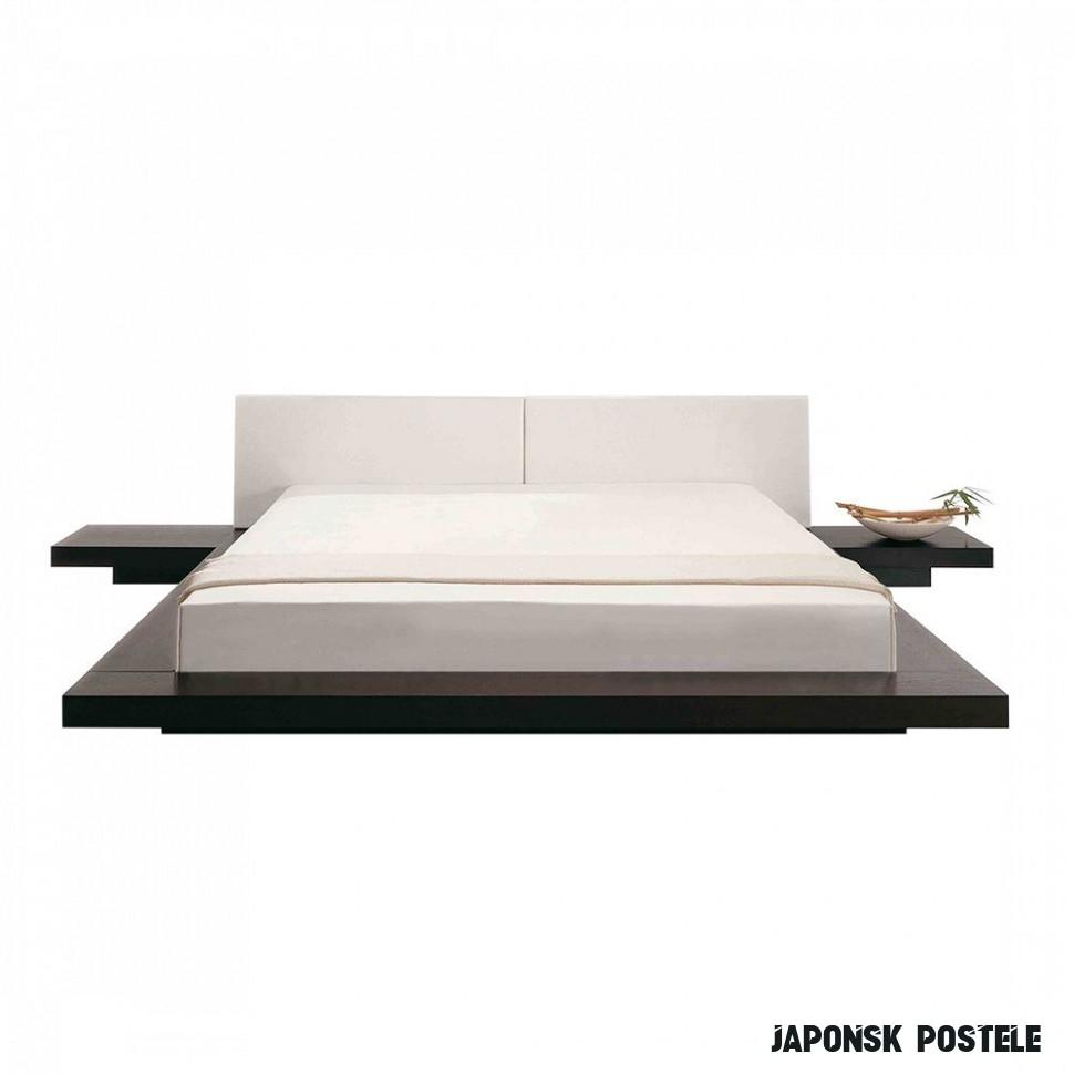Dřevěná japonská postel 12x12 cm ZEN  InHaus.cz