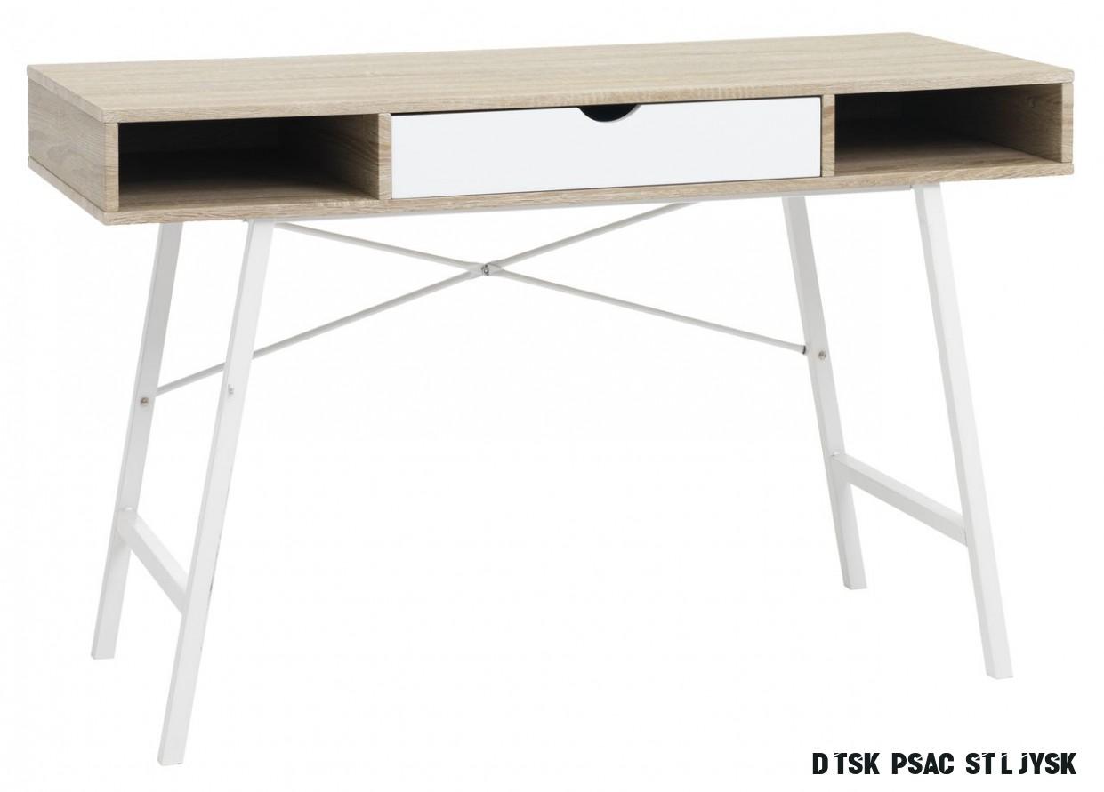 Psací stůl ABBETVED dub/bílá