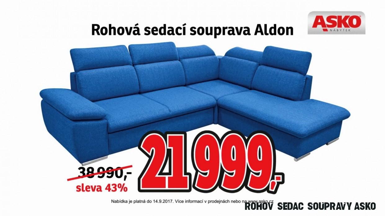 Rohová sedací souprava Aldon