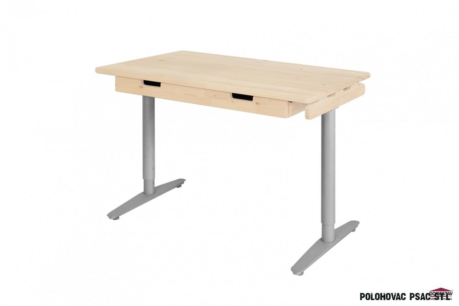 Psací stůl s kovovou podnoží 11 cm smrk - D11