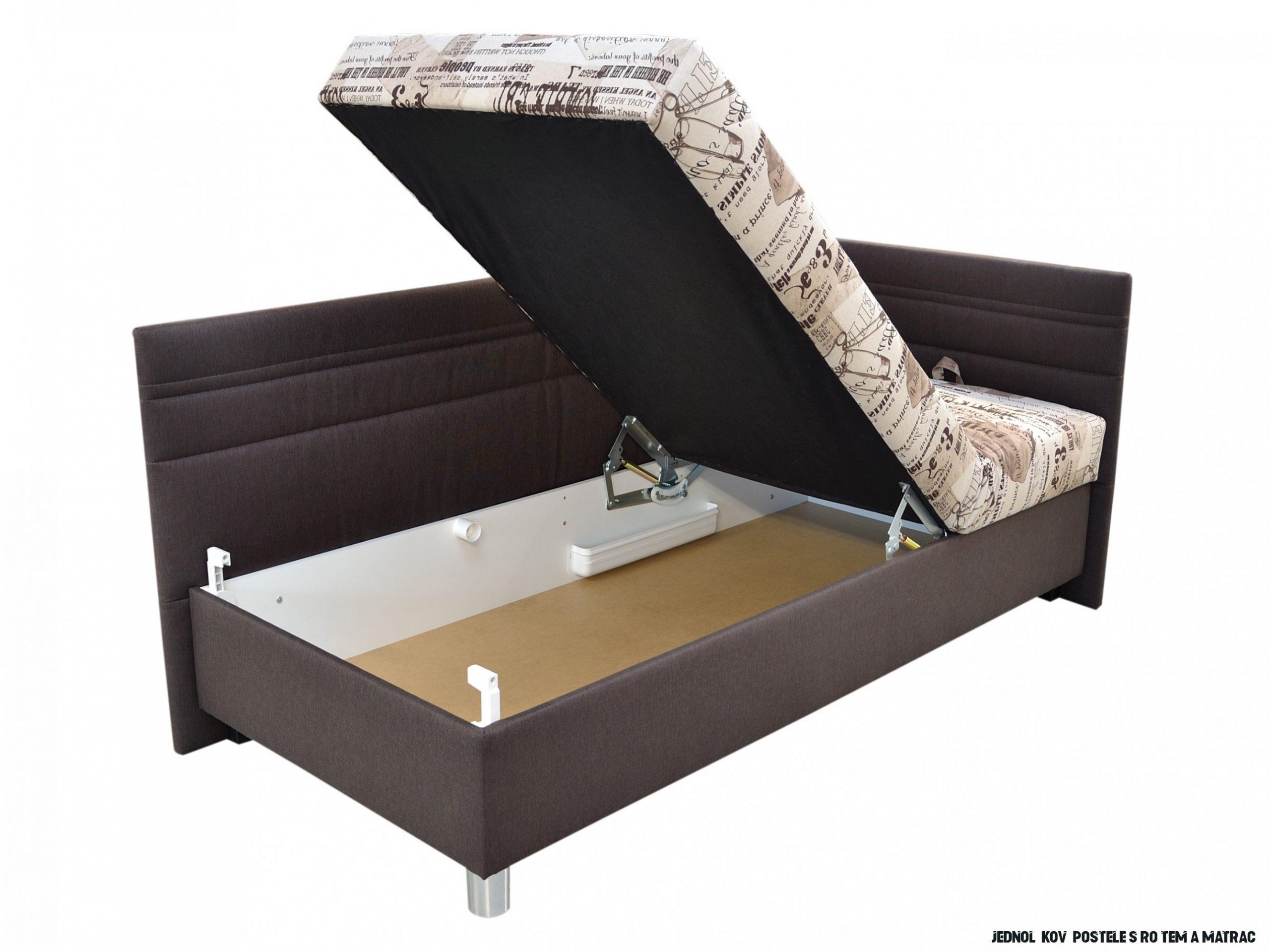 Jednolůžková postel 14 cm Blanář Polly (béžová + hnědá) (s roštem