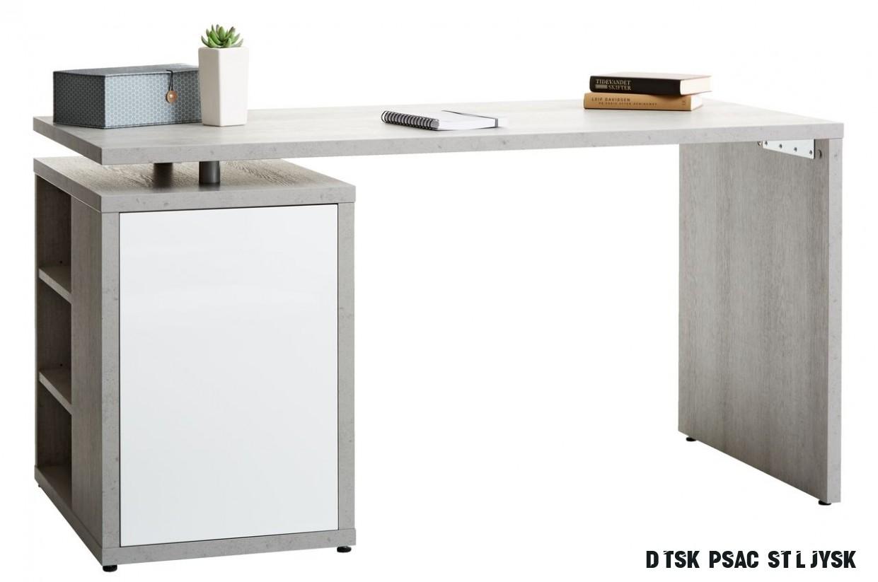 Psací stůl ULLITS 17x17 beton/bílá