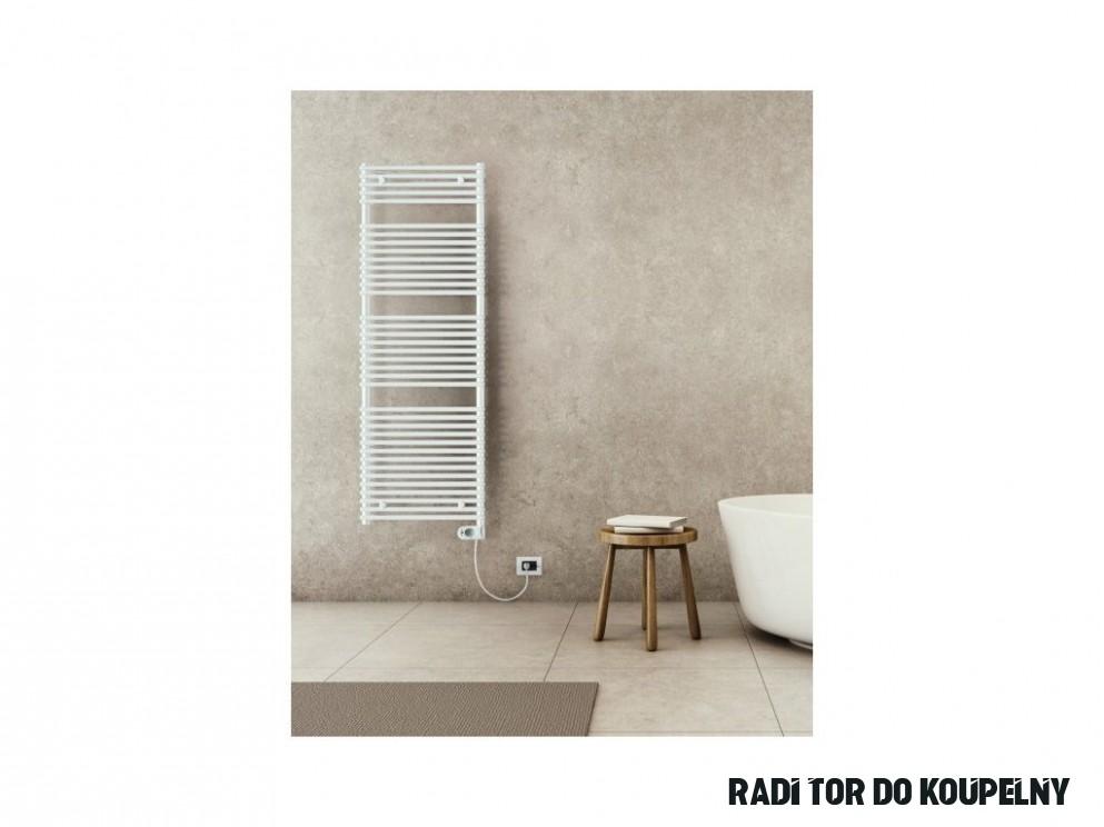 Sanotechnik E-Catania elektrický radiátor do koupelny 16W, bílý, rovný -  Výběrové Koupelny