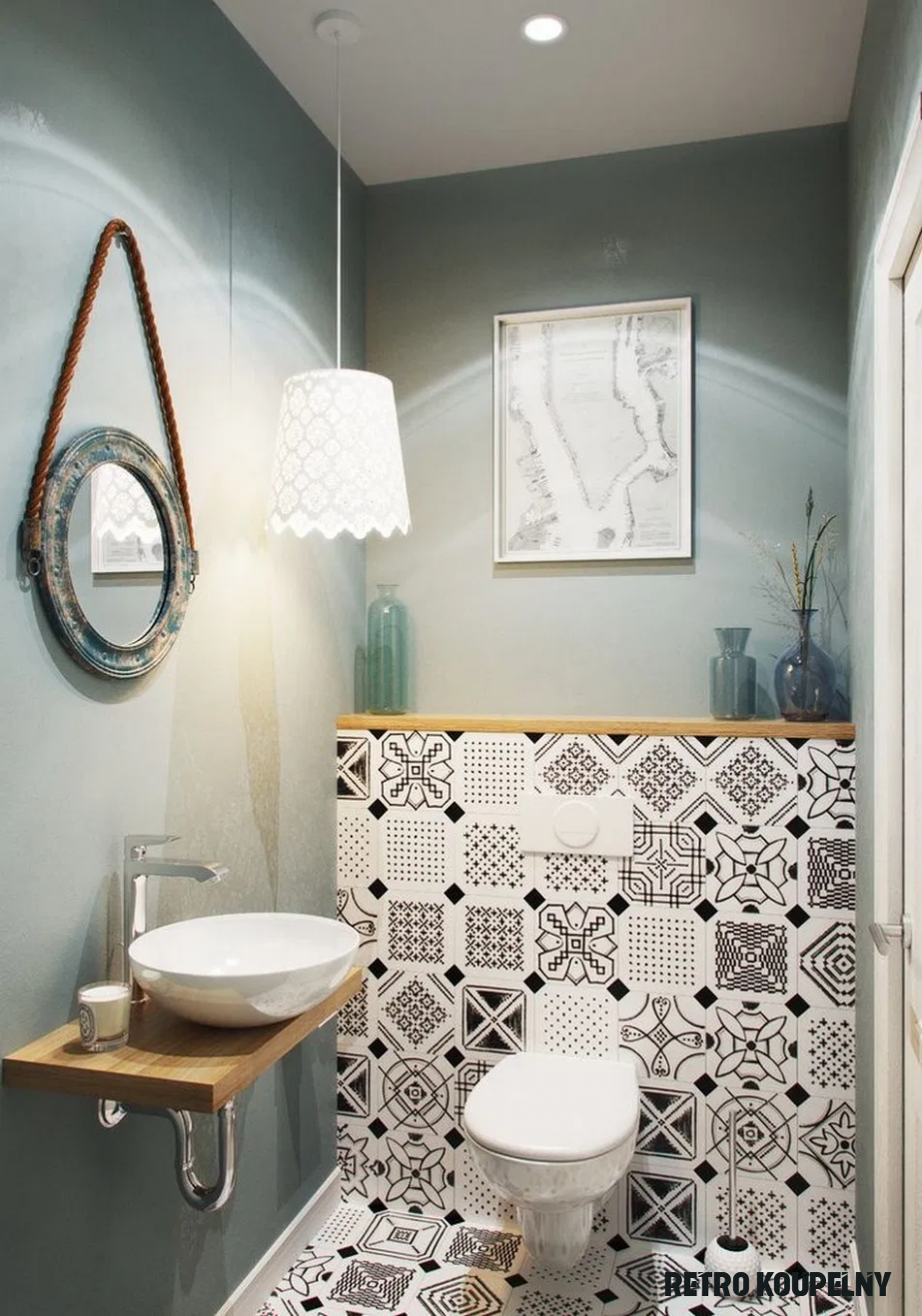 5 small bathroom designs and ideas 5  Koupelna, Retro, Záchod