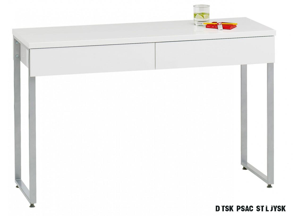 Psací stůl STEGE 17x17 bílá vysoký lesk
