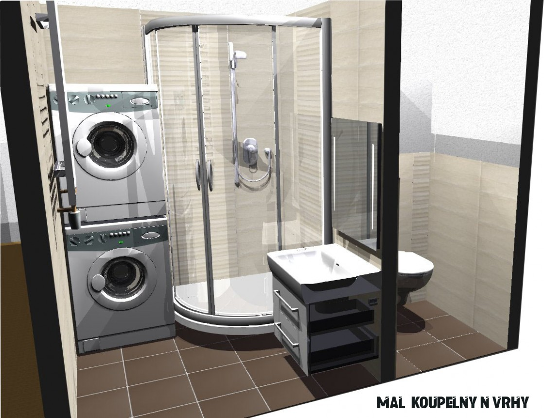 Malá koupelna v barvě slonovinové kosti se sprchovým koutem
