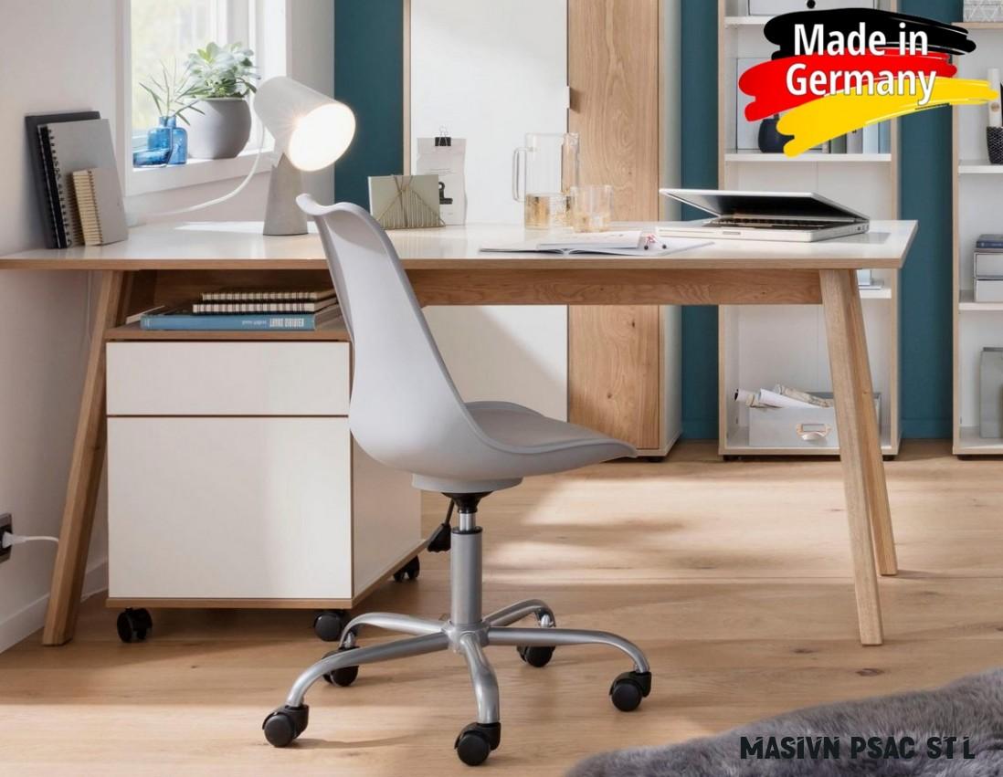 Počítačový/psací stůl - Masivní dub/bílá :