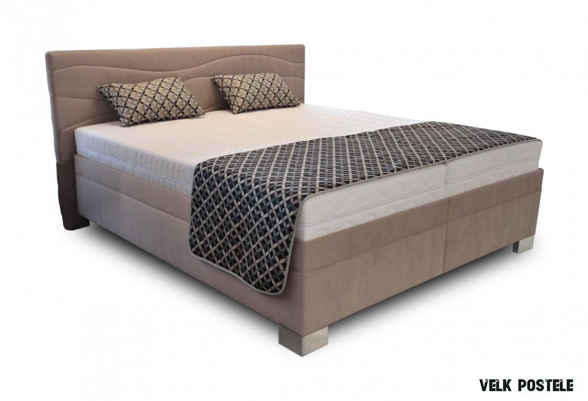 Čalouněná postel Windsor 8x8 vč. matrace a výklop. roštu, úp