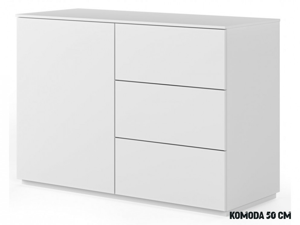 Bílá dřevěná komoda Lettia 8 x 8 cm