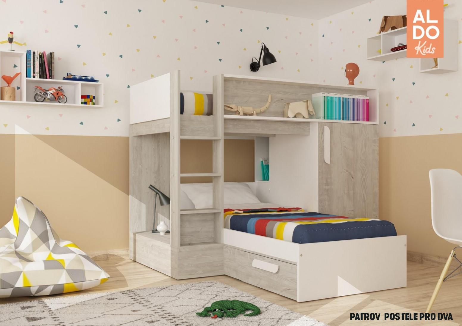 Patrová postel Bo14 cascina, white - dva způsoby sestavení