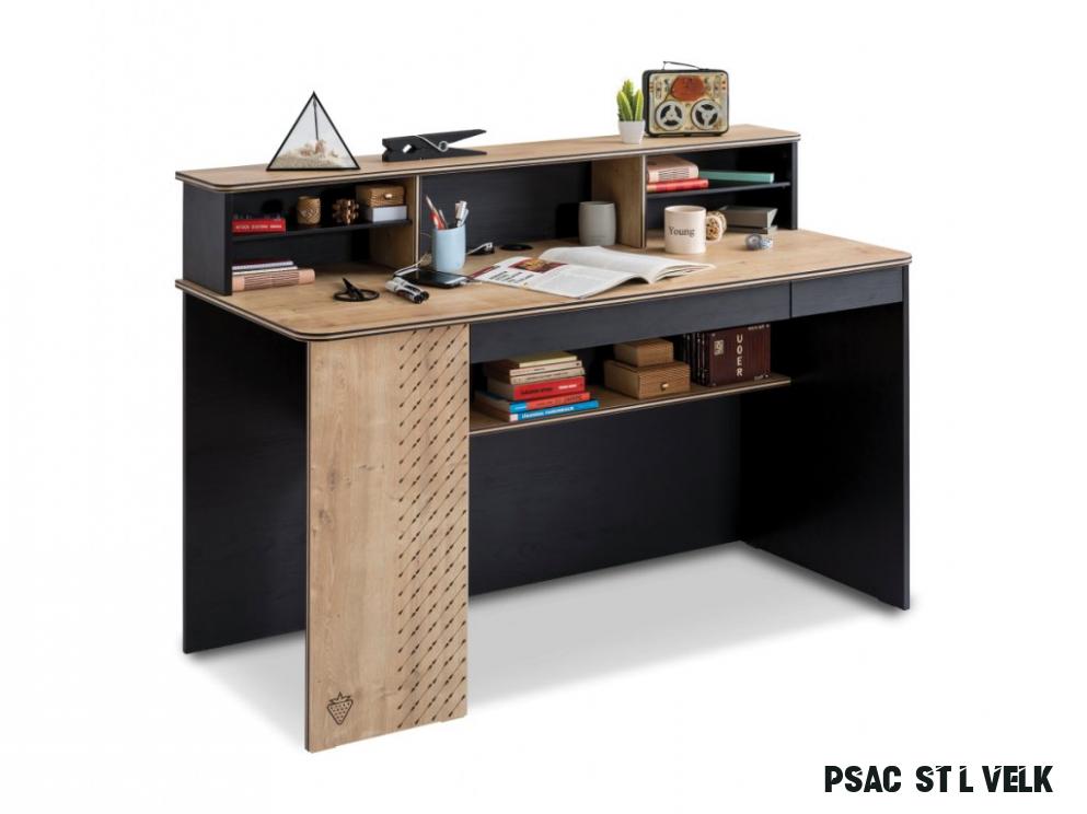Studentský psací stůl velký Black