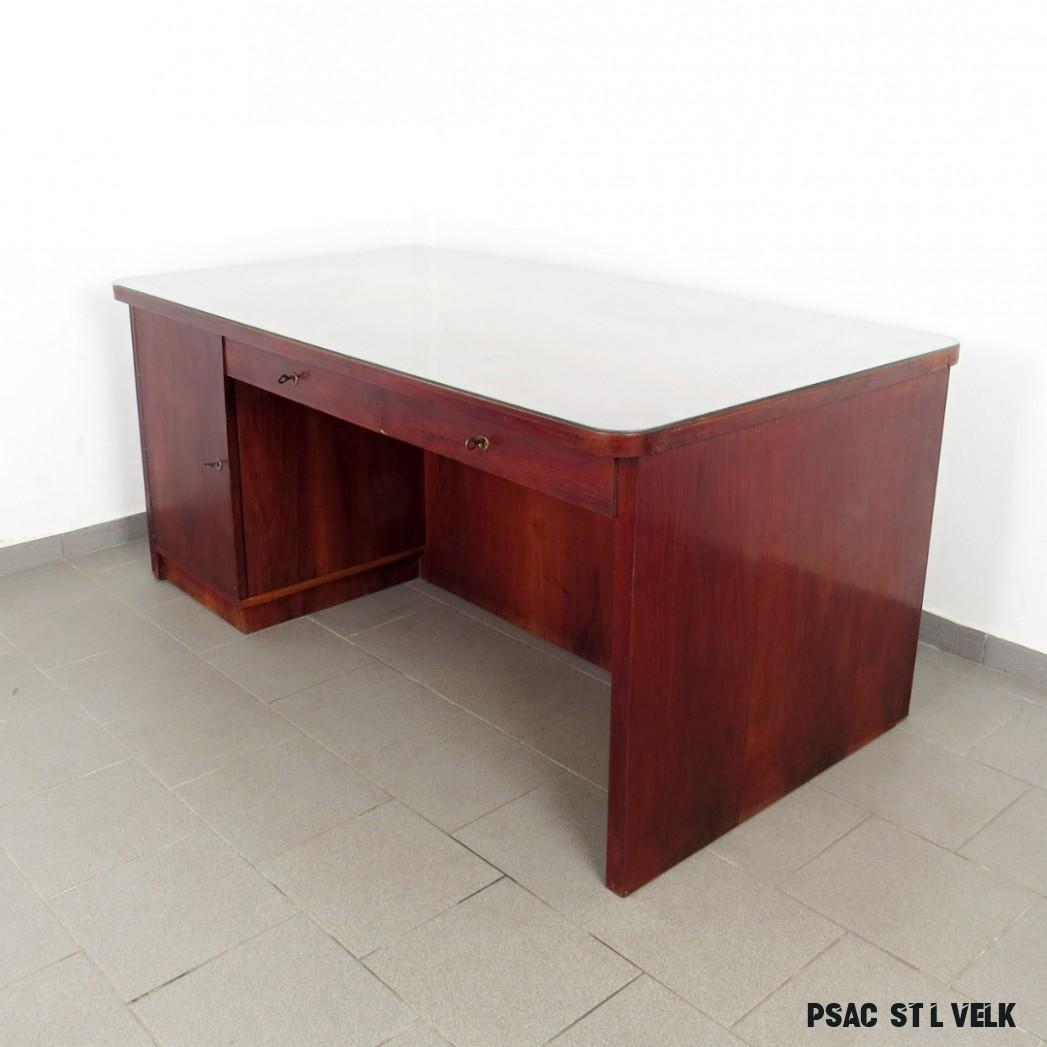 Velký psací stůl s knihovičkou  Art Deco  Design Robot