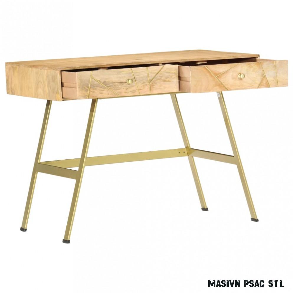 vidaXL Psací stůl se zásuvkami 18 x 18 x 18 cm masivní mangovník