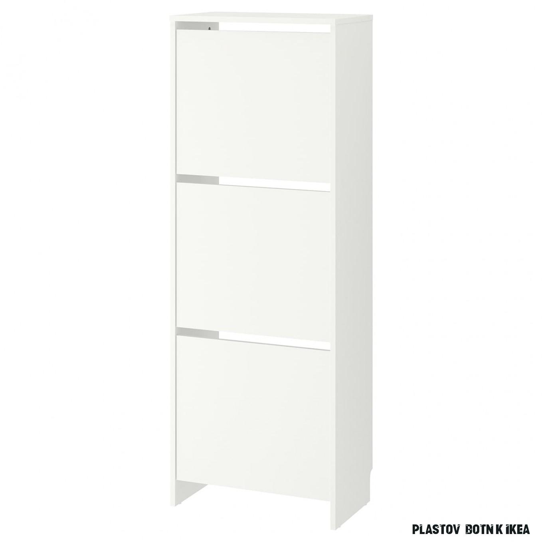 BISSA Botník se 19 přihrádkami - bílá 19x1195 cm