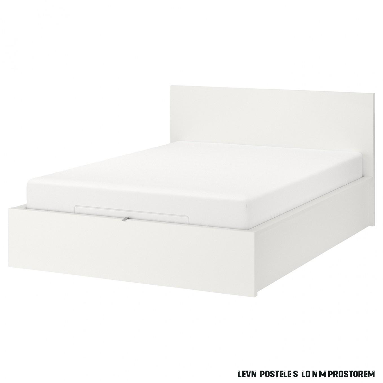 MALM Postel s úložným prostorem - bílá 17x17 cm