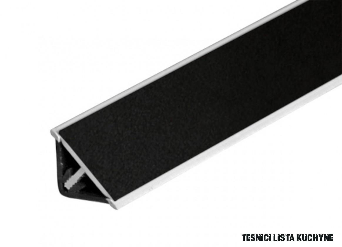 Těsnící lišta Naturel 10 cm černá TLA10C10