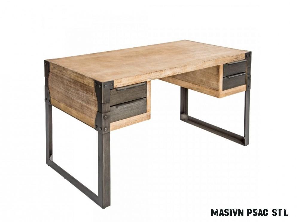Masivní akátový pracovní stůl Paolo 18 x 18 cm