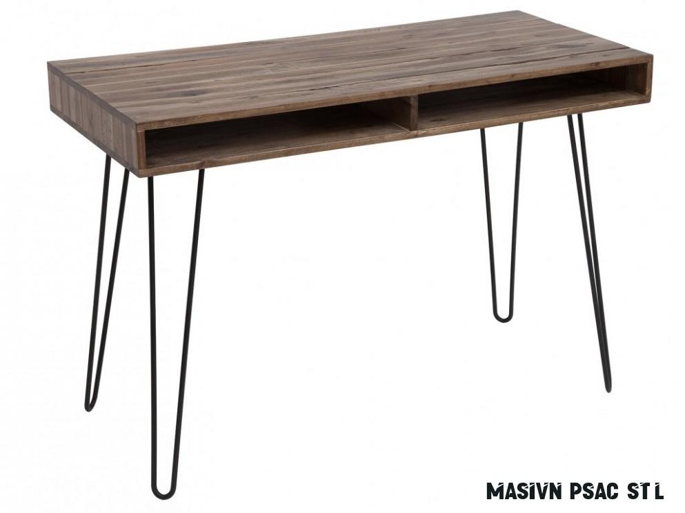Masivní akátový psací stůl Remus 18x18 cm