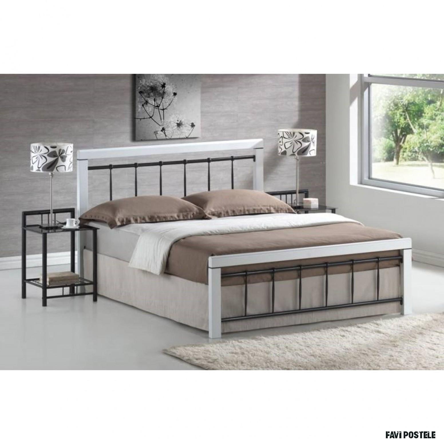 Berlin D 19 ágykeret fekete-fehér színben Emeld hálószobád