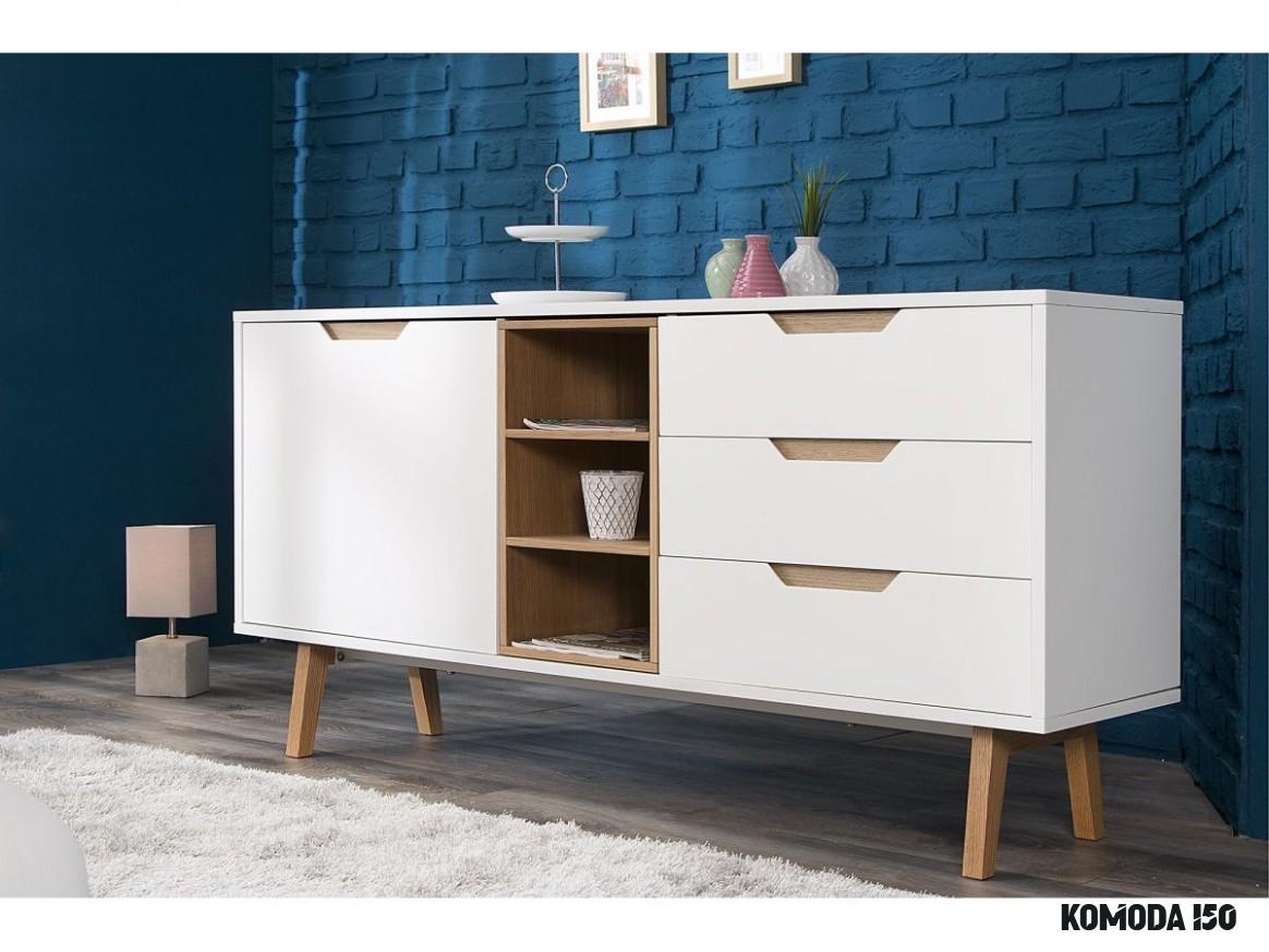 Komoda Nordic 14 cm biało-drewniana (14)  Furniture, Home