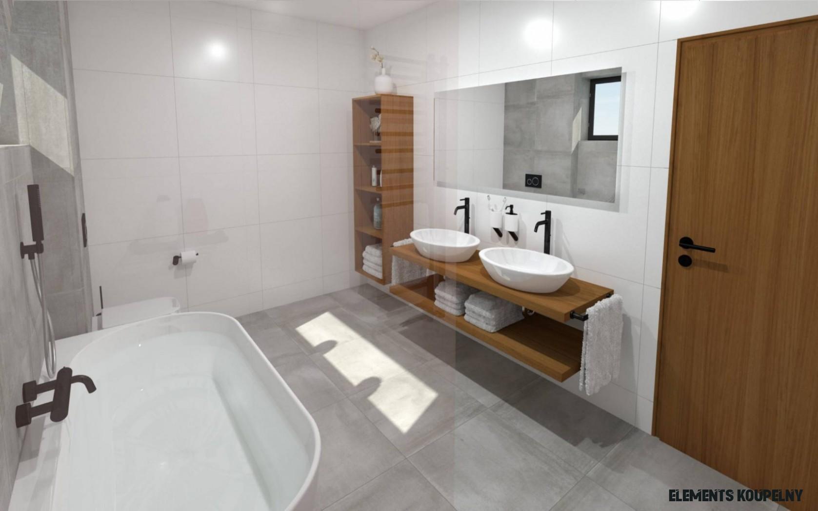 Designové koupelny ze studií elements