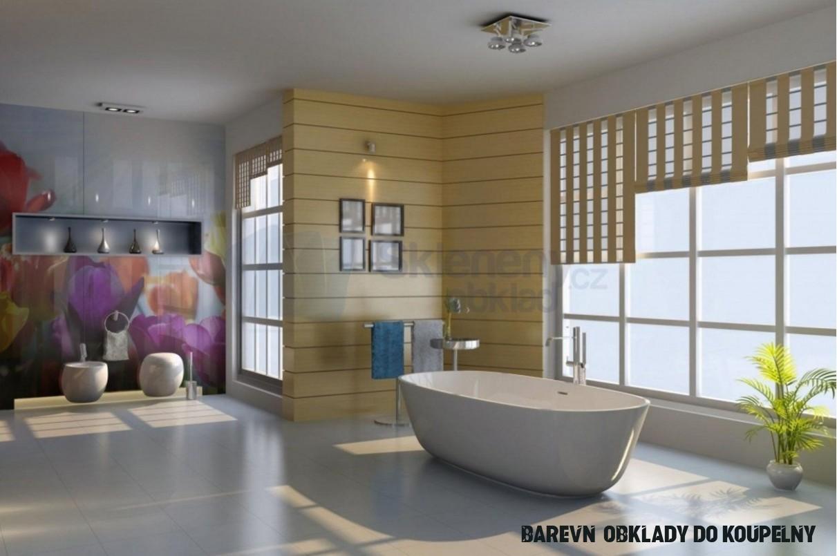 Skleněné obklady koupelen a stěn interiéru – Skleněné obklady