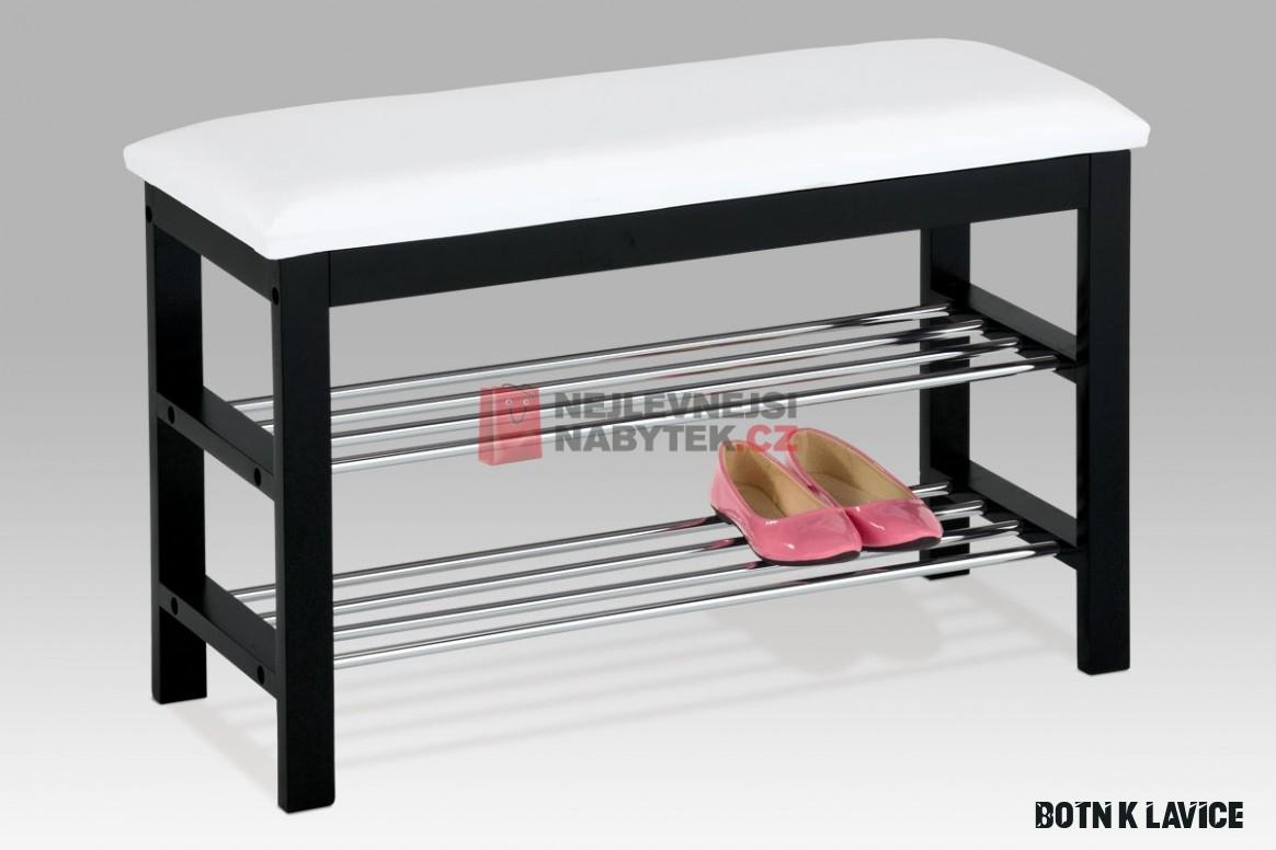 Botník/lavice QUINCY 5, bílá/černá