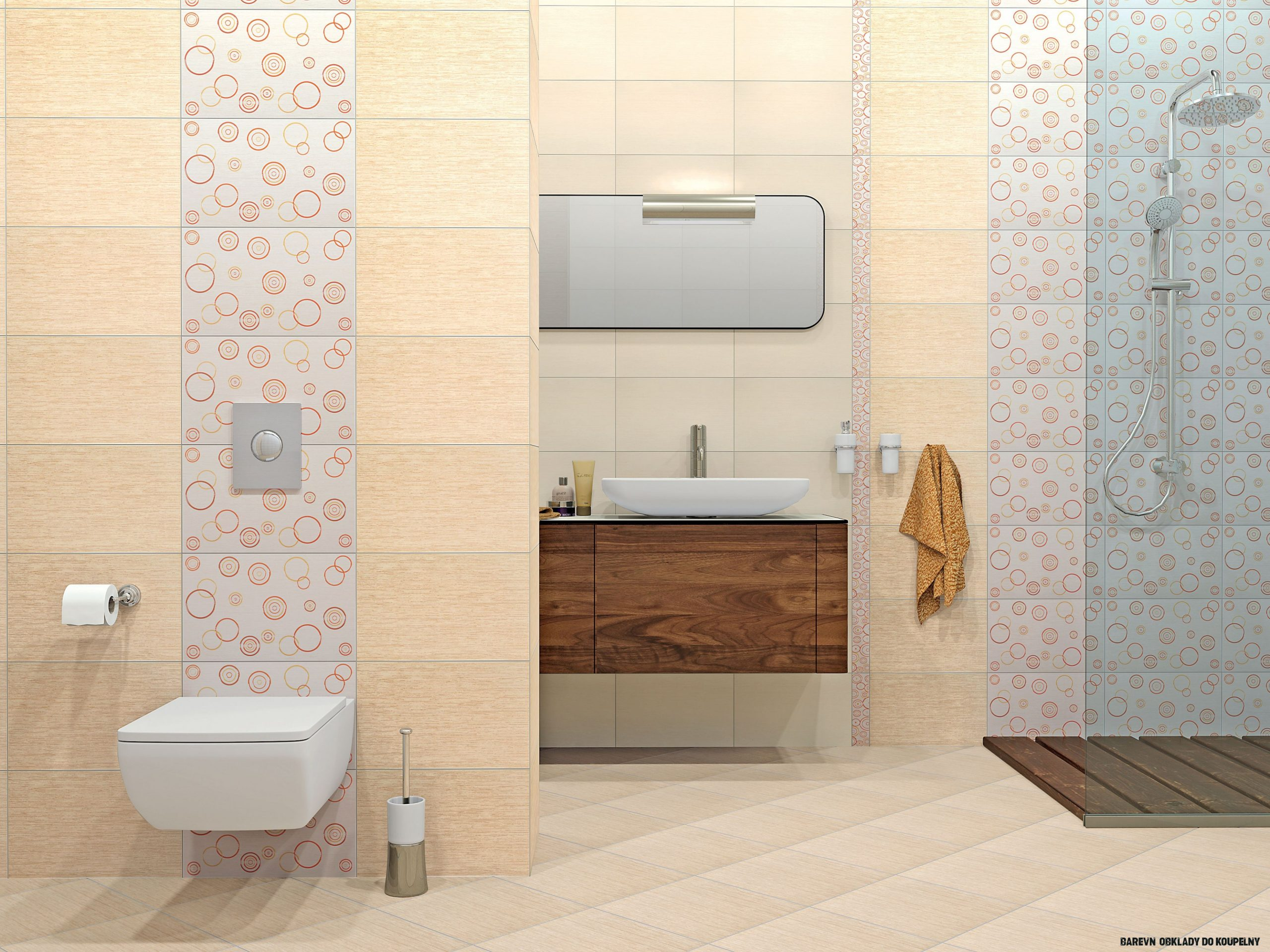 19 Obrázek Nápad z Barevné Obklady Do Koupelny