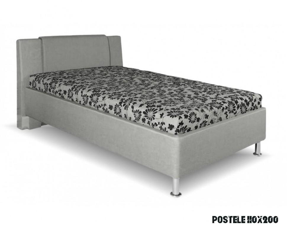 Čalouněná postel s úložným prostorem Monika, 11x11 cm, čelní