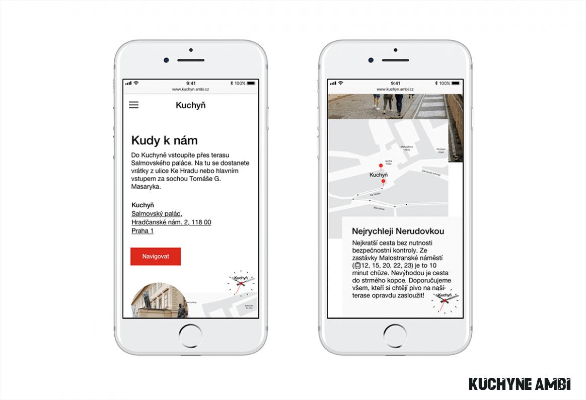Kuchyn restaurant – website refresh on Student Show