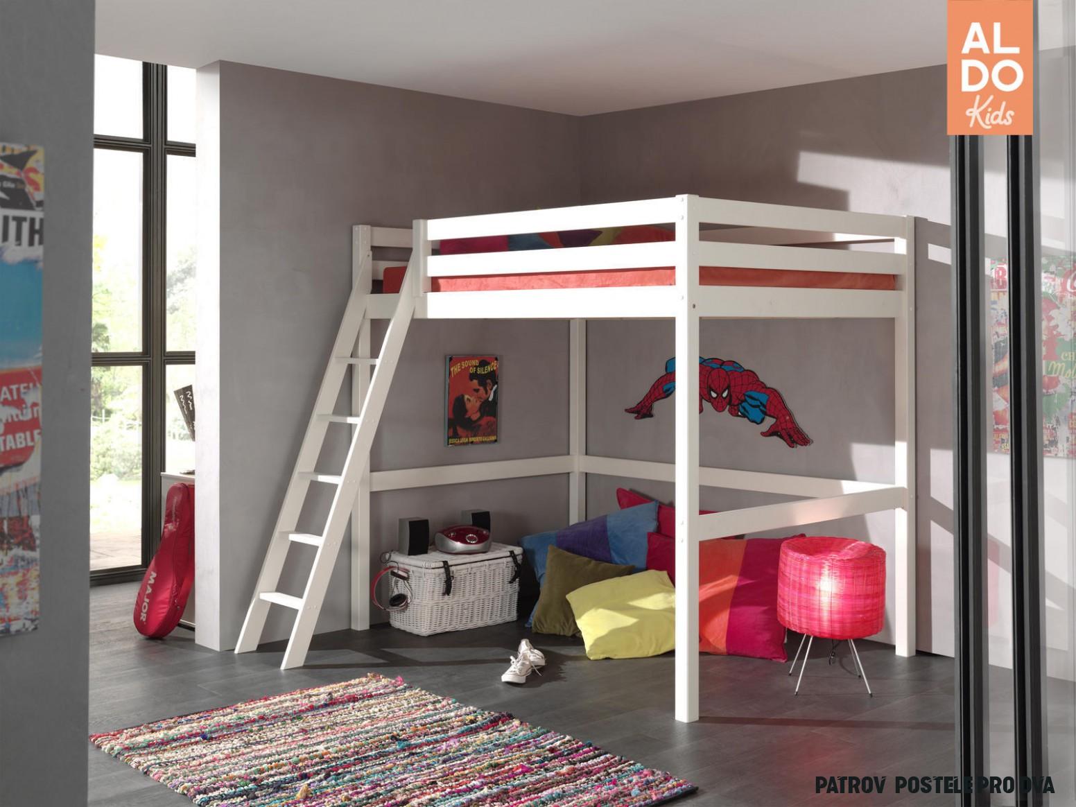 Patrová postel pro studenta Mezanine - 14x14 cm