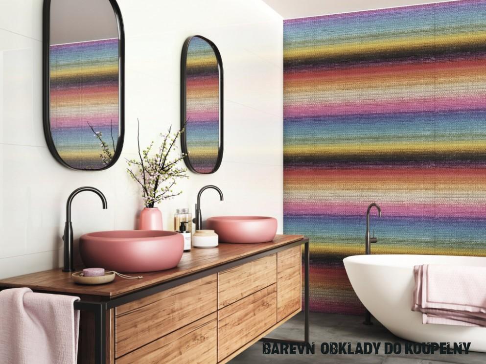 Vesele barevný obklad do KOUPELNY APE Chromatic Silk