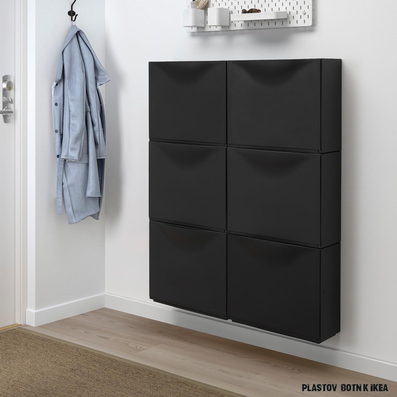 TRONES Botník - černá 19x19 cm