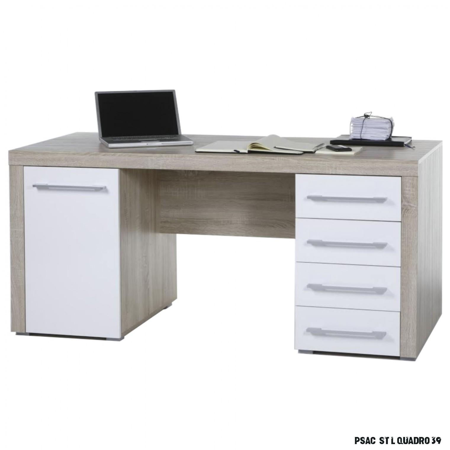 Psací stůl CUBE 7-7-7 dub sonoma/bílá  Sconto