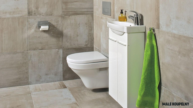 Malá koupelna prakticky i stylově - TZB-info