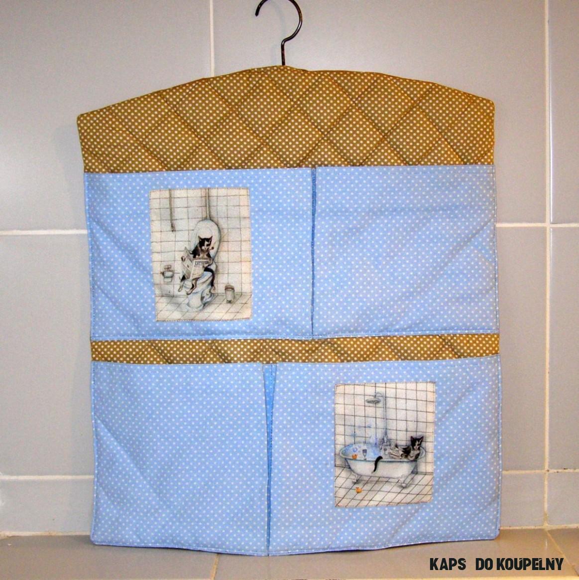 """7K = Kočičí koupelnová kapsář"""" - do koupelny – Potvor - pomáhat tvořit"""