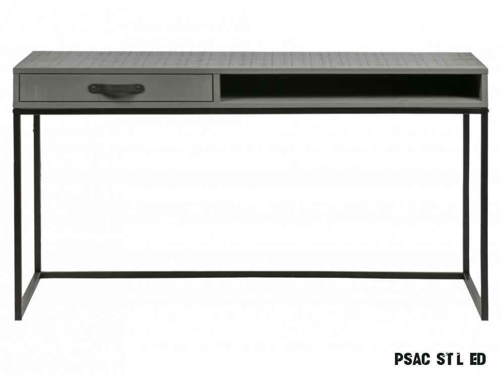 Šedý dřevěný psací stůl Neville 9 cm