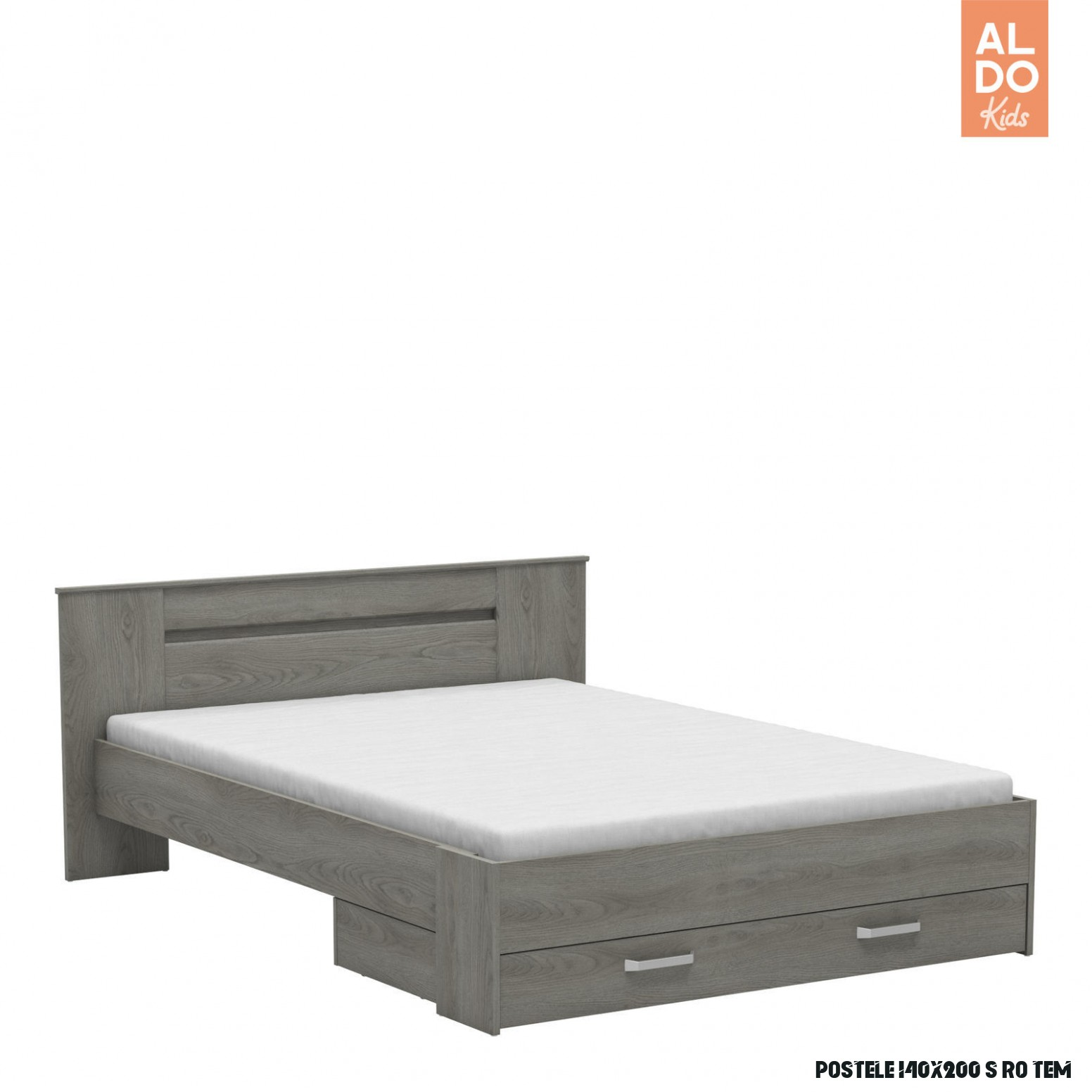 Studentská postel 14x14 s šuplíkem Divine